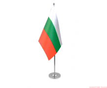 BULGARIA - DELUXE SATIN TABLE FLAG